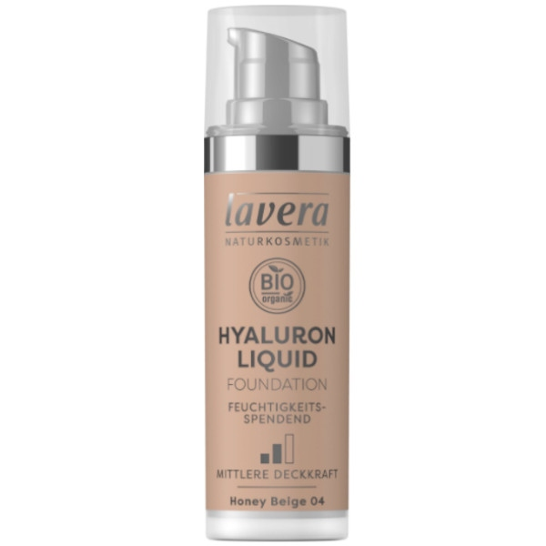 Φυσικό Υγρό Hyaluron Make-up No.04 - Honey Beige, Bio, Lavera