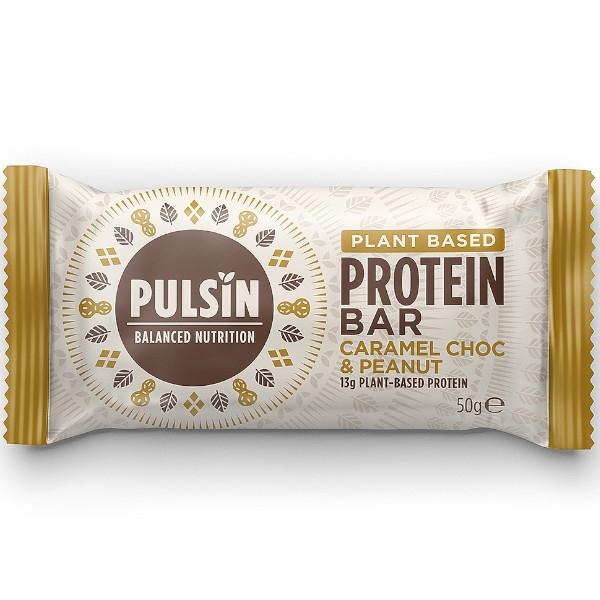Μπάρα Πρωτεΐνης με Καραμέλα, Σοκολάτα & Φυστίκι 50 γρ., Pulsin