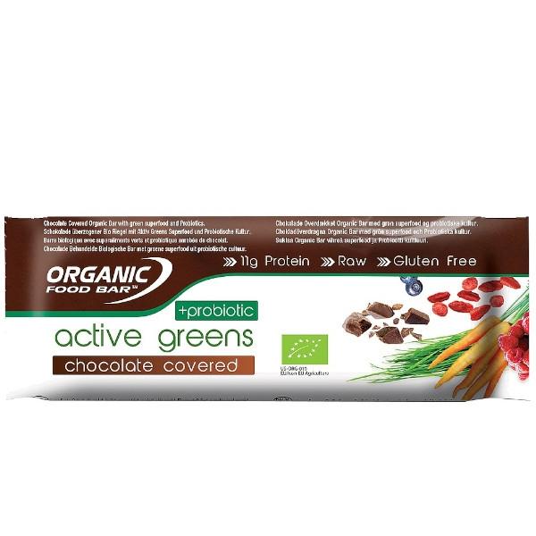 Βιολογική Μπάρα Πρωτεΐνης με Σοκολάτα & Προβιοτικά, 68 γρ., Biom Active Greens