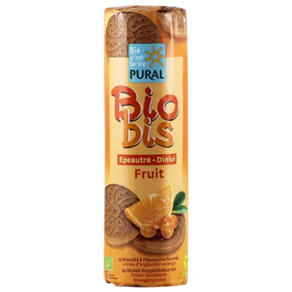 Βιολογικά Μπισκότα Ντίνκελ με Γέμιση Πορτοκάλι & Ιπποφαές, 300γρ., Bio, Pural