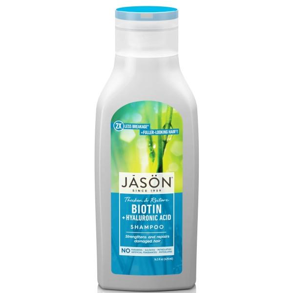 Βιολογικό Σαμπουάν με Bιοτίνη κατά της Τριχόπτωσης 480ml, Jason
