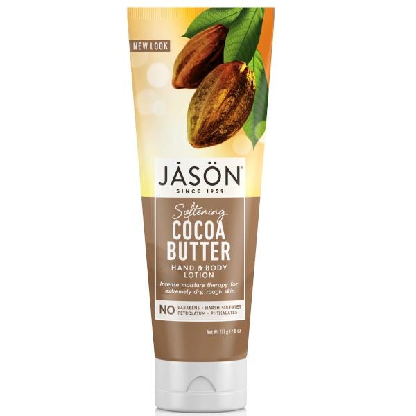 Βιολογικό Λοσιόν Σώματος & Χεριών με Βούτυρο Κακάο για Ξηρό Δέρμα 230ml, Jason