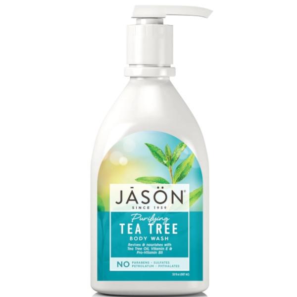 Βιολογικό Αφρόλουτρο με Tea Tree για Όλη την Οικογένεια 887ml, Jason