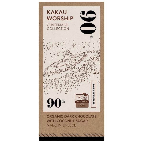 Βιολογική Σοκολάτα 90% Κακάο Γουατεμάλα, 75 γρ., Bio, Kakau