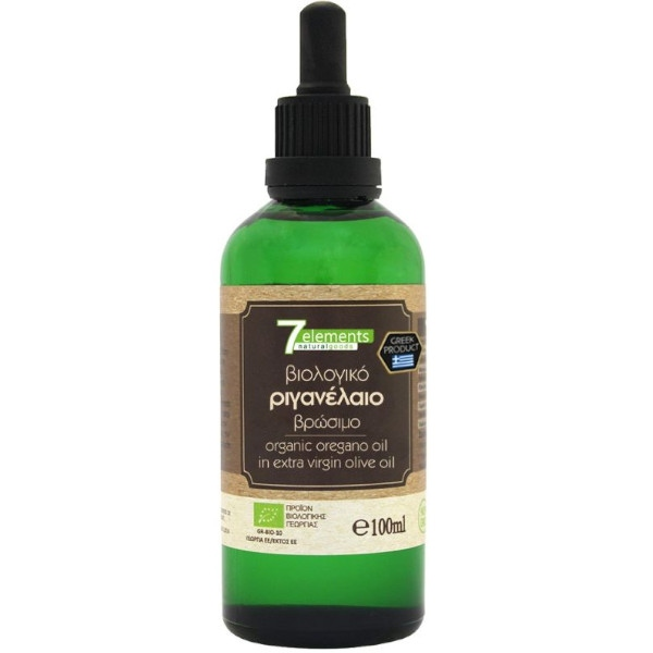 Βιολογικό Ριγανέλαιο, 100 ml, Bio, 7Elements