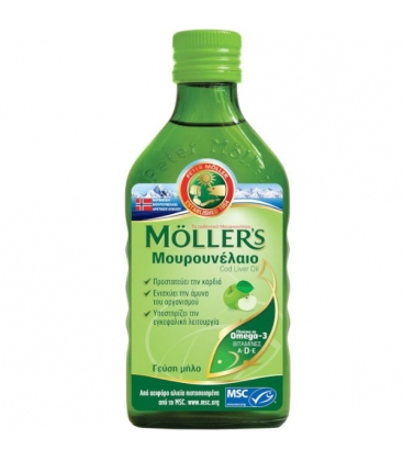 Μουρουνέλαιο με Γεύση Μήλο, 250ml, Moller's