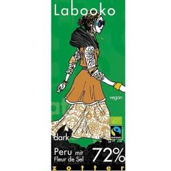 Βιολογική Σοκολάτα Περού με 72% Κακάο & Άνθος Αλατιού Bio 70γρ. Zotter
