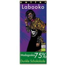 Βιολογική Σοκολάτα Madagascar 75% Bio 70γρ Labooko Zotter