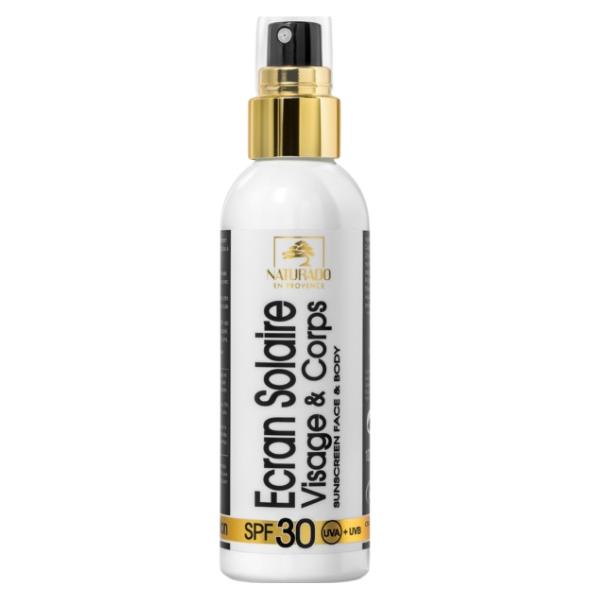 Βιολογική Αντιηλιακή Κρέμα SPF30 για Πρόσωπο & Σώμα Spray Bio 100ml, Naturado