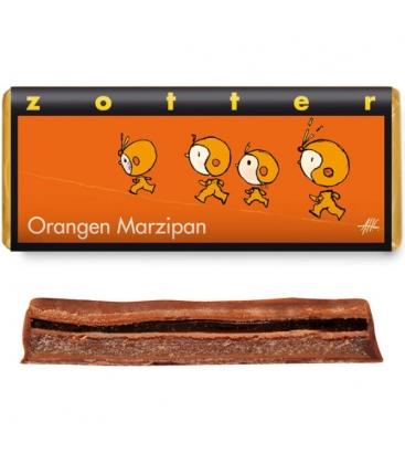 Βιολογική Σοκολάτα Γεμιστή με Marzipan & Πορτοκάλι 70γρ Zotter