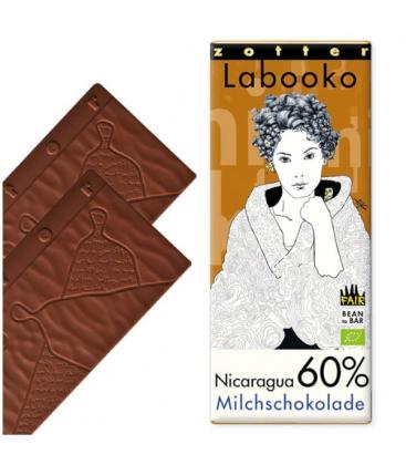 Βιολογική Σοκολάτα Γάλακτος Nicaragua 60% Bio 70γρ Labooko Zotter