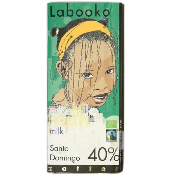 Βιολογική Σοκολάτα Γάλακτος Santo Domingo 40% Bio 70γρ Labooko Zotter