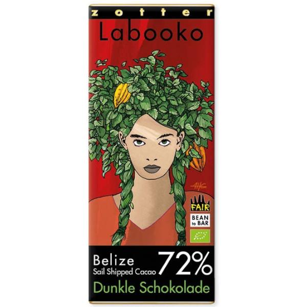 Βιολογική Σοκολάτα Belize 72% Bio 70γρ Labooko Zotter