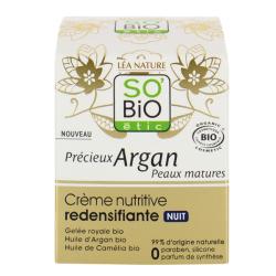Κρέμα Νυχτός Redensifying Nourishing με Αργκάν 50 ml, So Bio