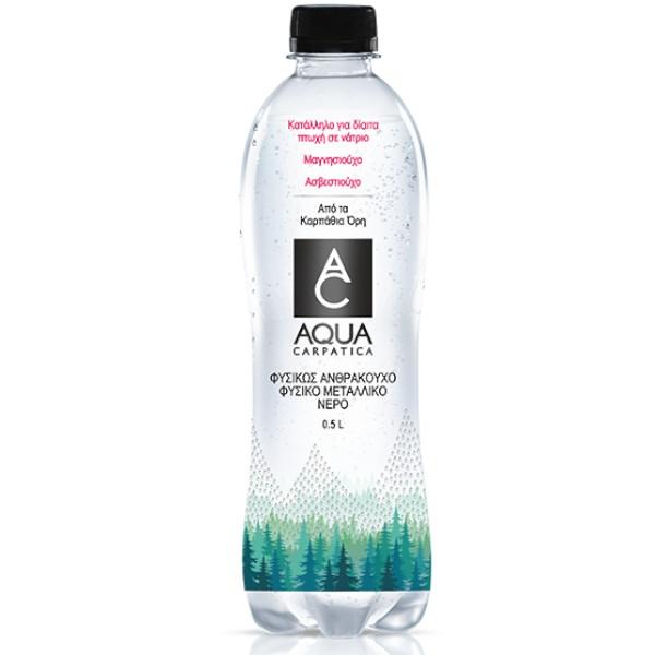 Φυσικό Ανθρακούχο Μεταλλικό Νερό, 500 ml, Carpatica