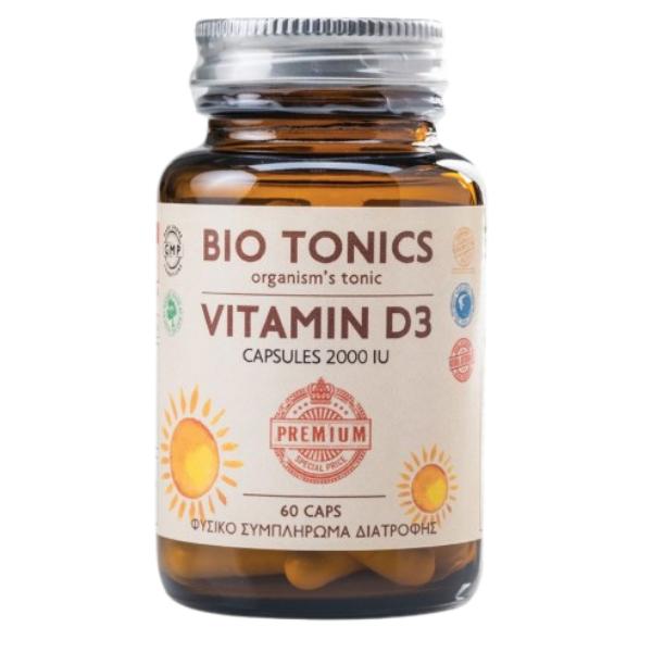 Vitamin D3 2000iu, 60 κάψουλες, Bio Tonics