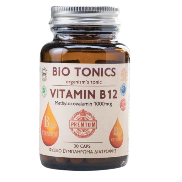 Vitamin B12 1000mcg, 30 κάψουλες, Bio, Bio Tonics