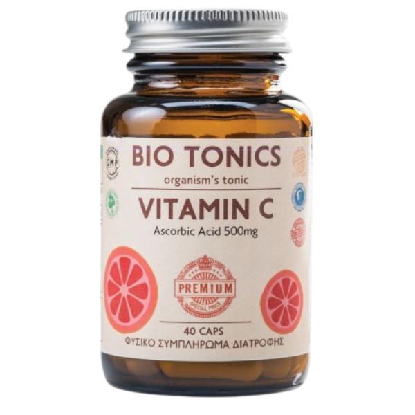 Vitamin C 500mg, 30 κάψουλες, Bio, Bio Tonics