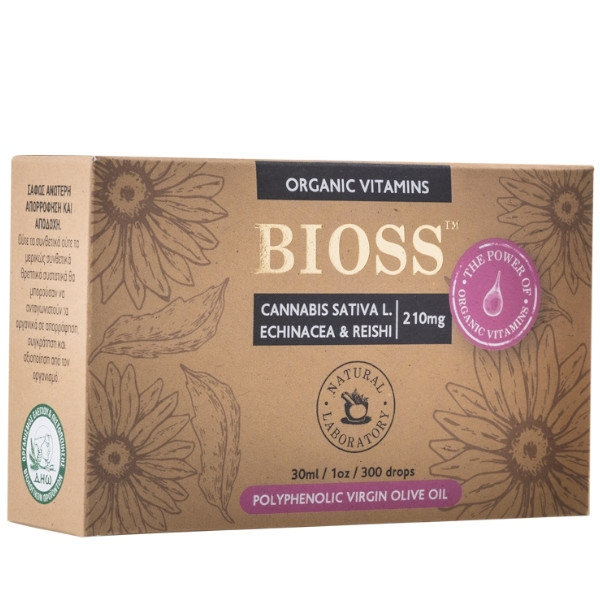 Cannabis, Echinacea & Reishi, 210mg Complex, Bio, Bioss Organic Vitamins