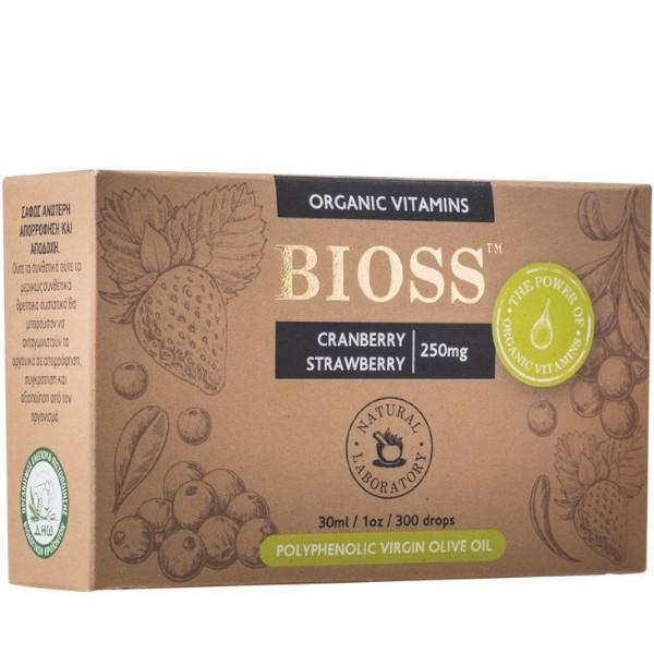 Cranberry & Strawberry 250mg, Bio, Bioss Organic Vitamins