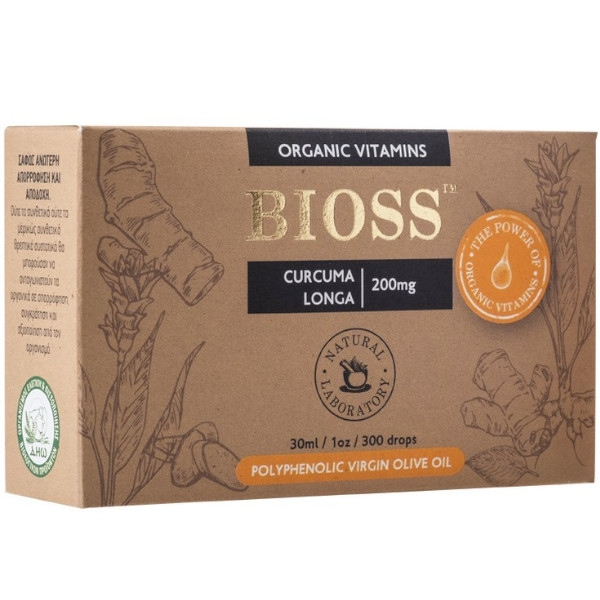 Curcuma Longa 200mg, Bio, Bioss Organic Vitamins