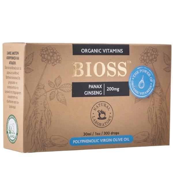 Panax Ginseng 200mg, 30ml, Bio, Bioss Organic Vitamins