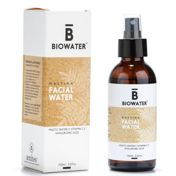 Facial Water με Μαστίχα, Υαλουρονικό Οξύ & Βιταμίνη C, 150ml, Biowater
