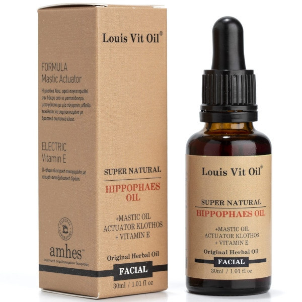 Hippophaes Facial Oil ( Έλαιο Ιπποφαούς), 30ml, Louis Vit Oil