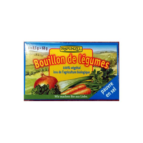 Βιολογικοί Κύβοι Λαχανικών Χωρίς Αλάτι Bio 8x1/2lt, Rapunzel