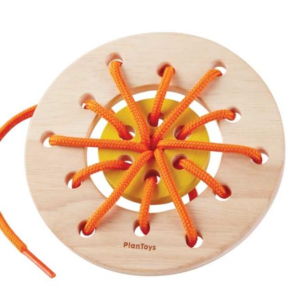 Δίσκος με Κορδόνια, Plantoys, Ξύλινο, Οικολογικό, Εκπαιδευτικό, Παιχνίδι