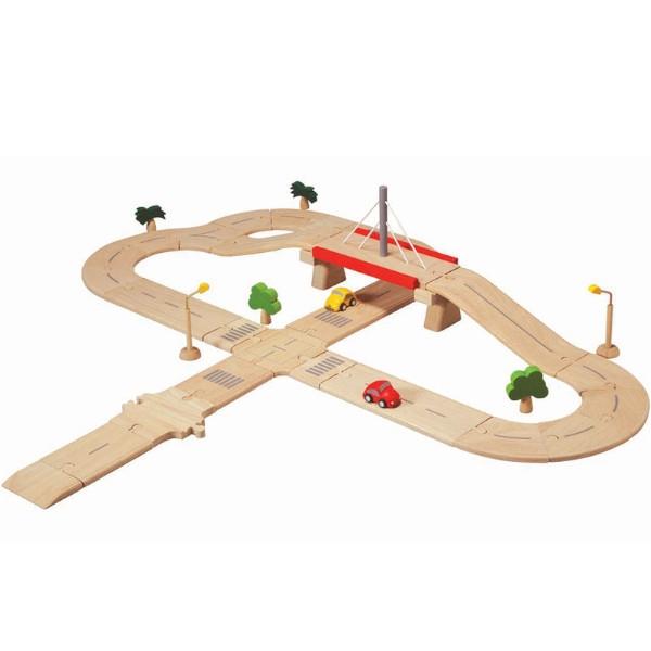 Αυτοκινητόδρομος (Σύνθετος), Plantoys, Ξύλινο, Οικολογικό, Εκπαιδευτικό, Παιχνίδι