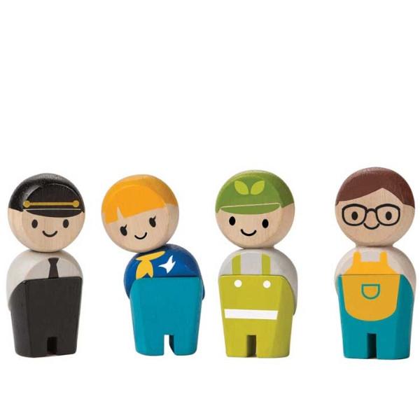 Επαγγελματίες - Προσωπικό II, Plantoys, Ξύλινο, Οικολογικό, Εκπαιδευτικό, Παιχνίδι