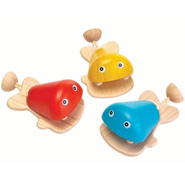 Καστανιέτα Ψάρι, Plantoys, Ξύλινο, Οικολογικό, Εκπαιδευτικό, Παιχνίδι