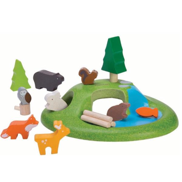 Σετ με Ζώα, Plantoys, Ξύλινο, Οικολογικό, Εκπαιδευτικό, Παιχνίδι