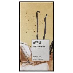 Βιολογική Λευκή Σοκολάτα με Βανίλια, 80 γρ., Bio, Vivani
