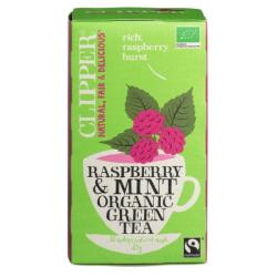 Βιολογικό Πράσινο Τσάι με Μέντα και Raspberry, 35 γρ., Bio, Clipper