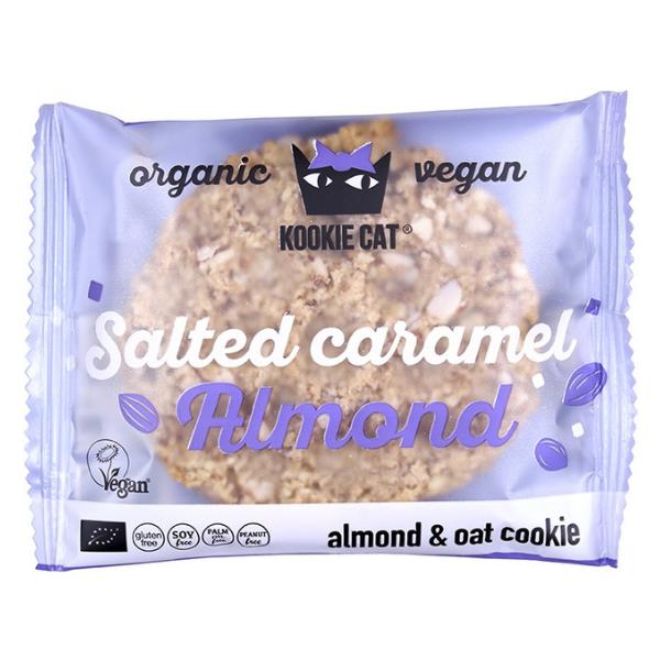Βιολογικά Μπισκότα Βρώμης με Αμύγδαλο & Salted Caramel, 50 γρ., Bio, Kookie Cat