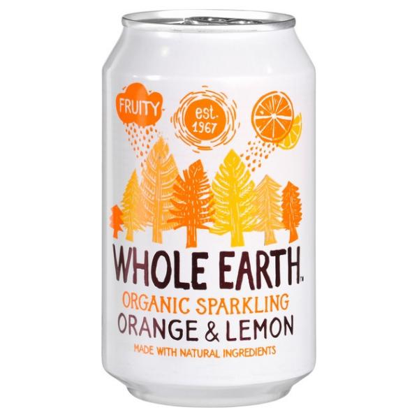 Βιολογικό Αναψυκτικό Πορτοκάλι & Λεμόνι, 330 ml, Bio, Whole Earth