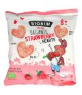 Βιολογικά Ποπ Κορν Καρδούλες με Φράουλα, 20 γρ., Bio, BioBim
