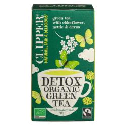 Βιολογικό Πράσινο Τσάι Detox, 20 φακελάκια, Bio, Clipper