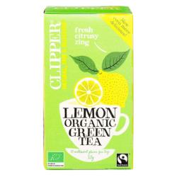 Βιολογικό Πράσινο Τσάι με Λεμόνι, 20 φακελάκια, Bio, Clipper