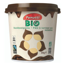 Βιολογικό Επάλλειμα Πραλίνας Φουντουκιού, 350 γρ., Bio, Penotti