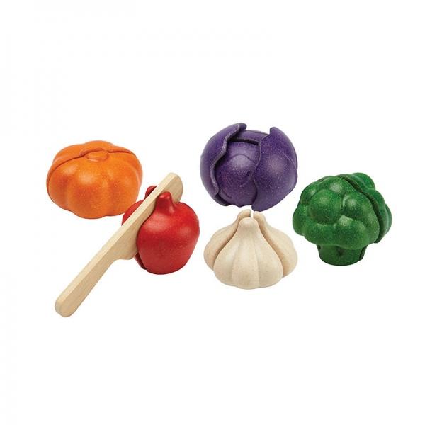 Σετ Λαχανικών σε 5 Χρώματα, Plantoys, Ξύλινο, Οικολογικό, Εκπαιδευτικό, Παιχνίδι