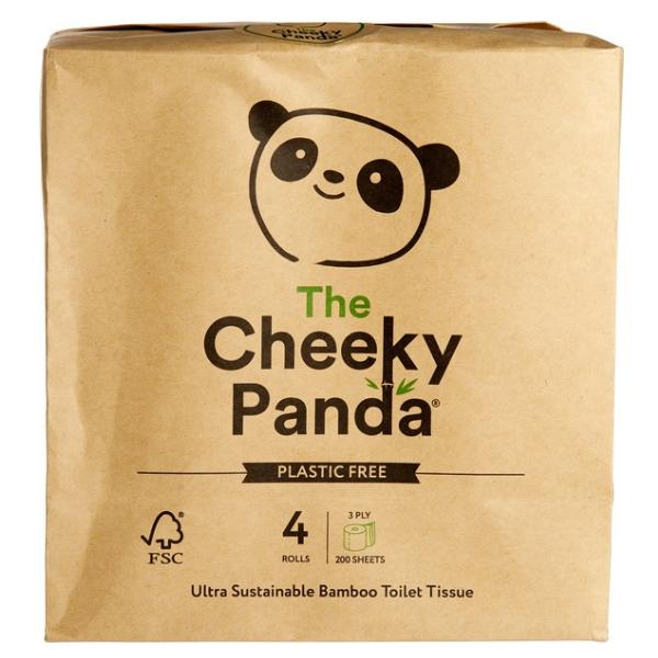 Χαρτί Υγείας από Μπαμπού, 4 Ρολά, The Cheeky Panda