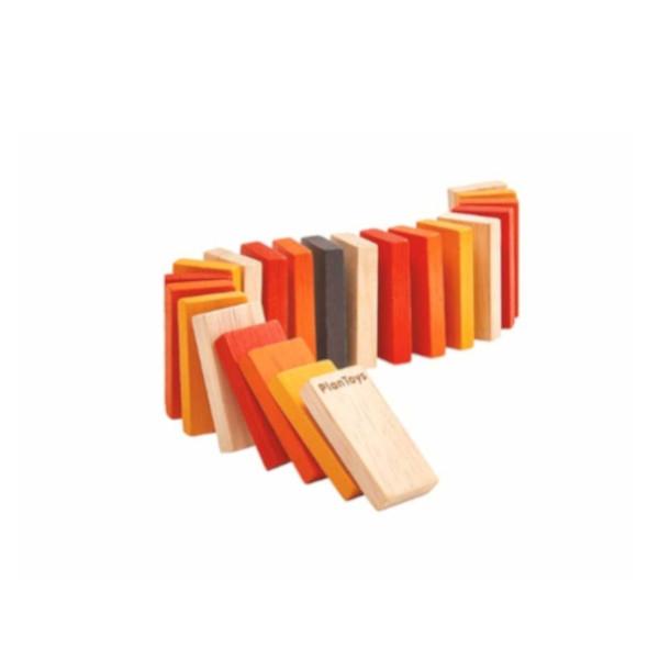 Ντόμινο mini Plantoys, Ξύλινο, Οικολογικό, Εκπαιδευτικό, Παιχνίδι