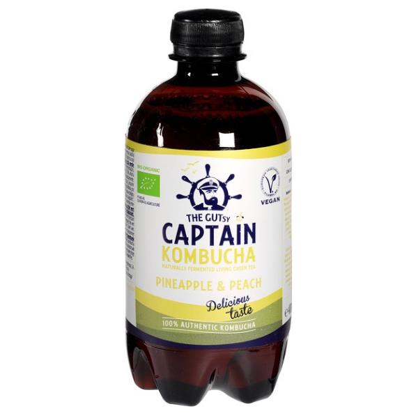 Βιολογική Κομπούχα Ανανάς & Ροδάκινο, 400 ml, Bio, Captain