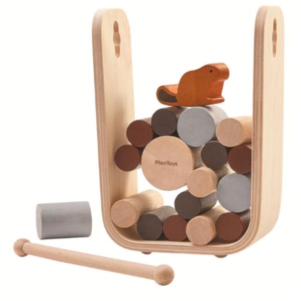 Παιχνίδι Ισορροπίας με Κάστορα, Plantoys, Ξύλινο, Οικολογικό, Εκπαιδευτικό, Παιχνίδι