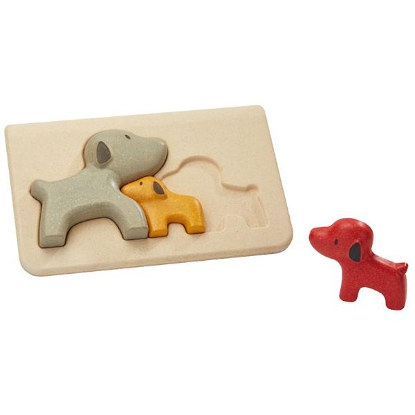 Πάζλ με Σκύλο, Plantoys, Ξύλινο, Οικολογικό, Εκπαιδευτικό, Παιχνίδι