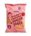 Βιολογικά Σνακ Καλαμποκιού με Φράουλα & Μπανάνα, 20 γρ., Bio, Ella's Kitchen