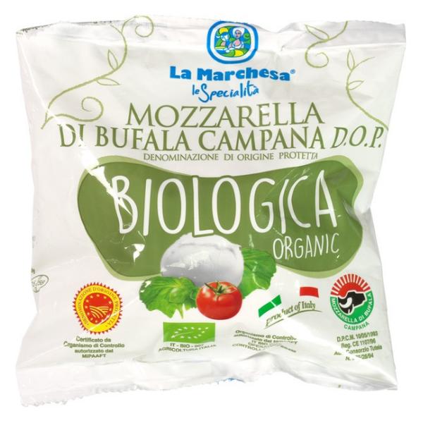 Βιολογική Μοτσαρέλα Βουβαλίσια, 125 γρ., Bio, La Marchesa